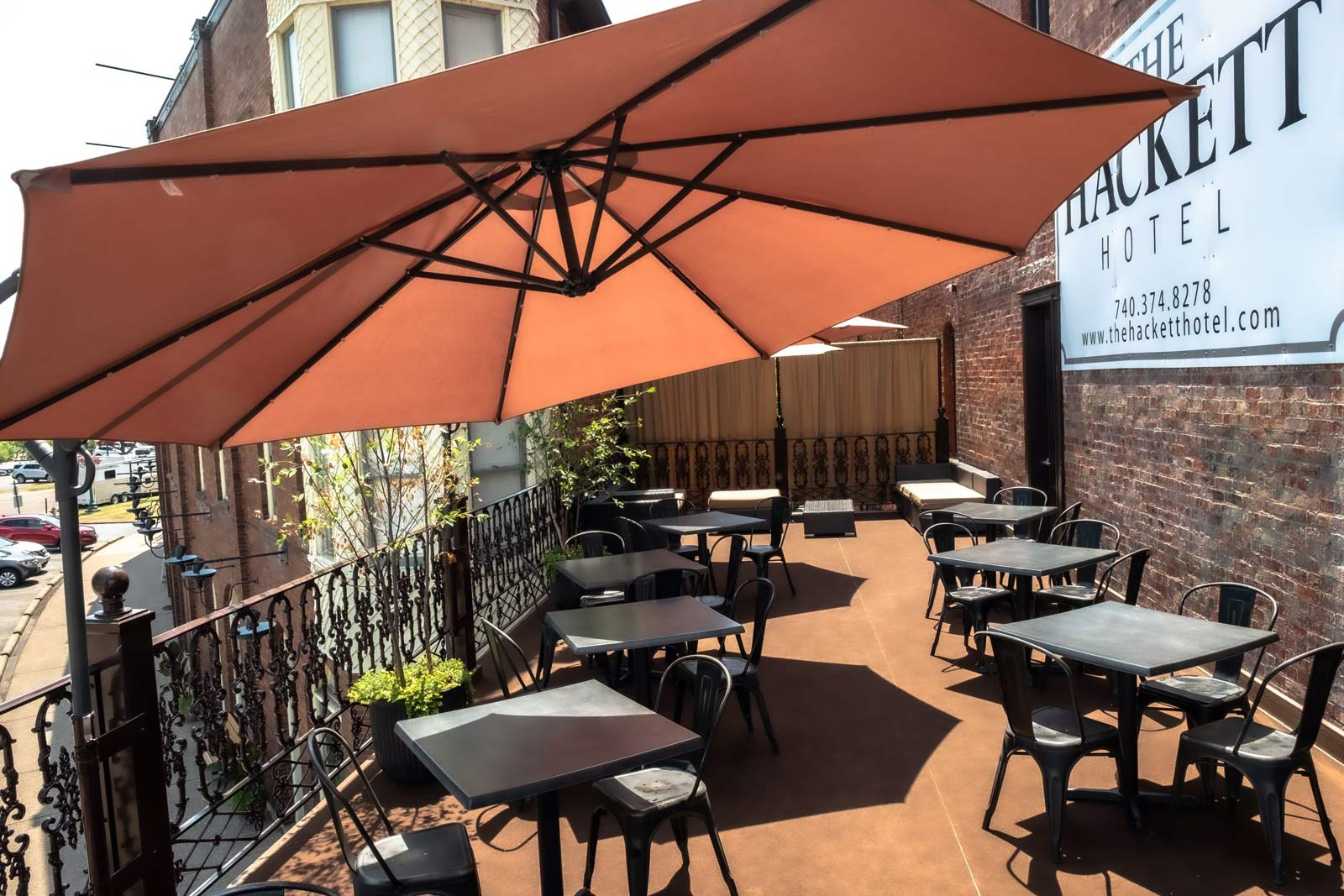 outdoor second floor patio at The Galley