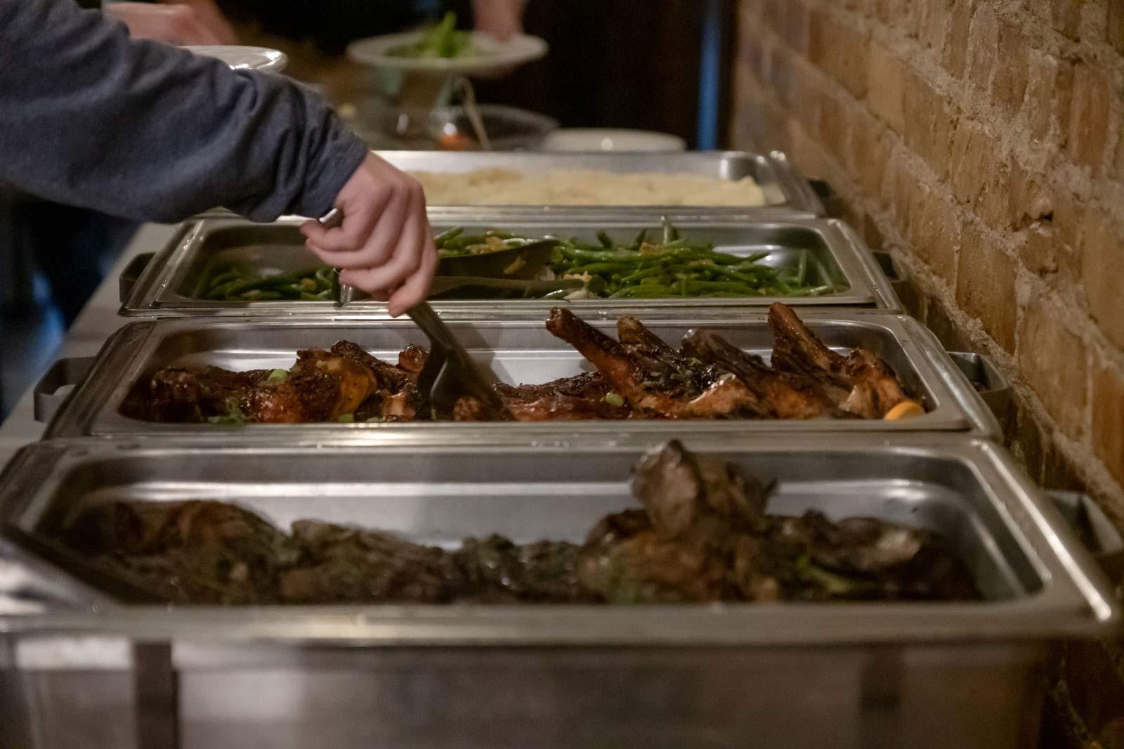 banquet buffet setup